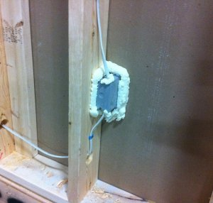 We're fanatical about sealing and caulking around all outlets and wall penetrations to eliminate leakage