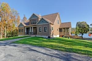 Custom modular home overlooking Lake George NY