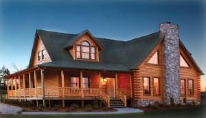 Modular log home, perfect for lakeside living!