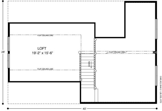 Optional upper floor