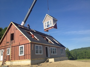 Custom modular cape cod style home built by Saratoga Modular Homes in Greenwich, Washington County NY