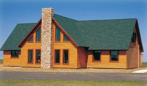 Mountain View modular log chalet exterior